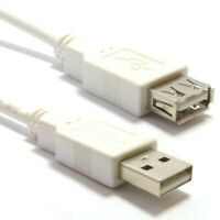 3m Meter LONG USB 2.0 EXTENSION Cable Lead A Male To A Female WHITE