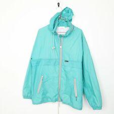 K-WAY Small Logo Rain Coat Jacket Blue | Large L