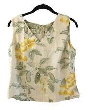 TOMMY BAHAMA S Sleeveless Silk Top Back Zipper Bra Strap Holders