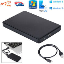 2.5 Inch USB 2.0 External SATA HDD/SSD Hard Drive Enclosure Caddy Case Laptop PC