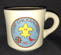 Boy Scout Coffee Mug 1980 Camp Chickahominy Lightfoot, Virginia BSA Scouts Cup