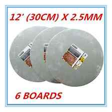 6 X ROUND FOIL WRAPPED SILVER CAKE BOARDS BASE 30 CM WEDDING PARTY EVENT FD
