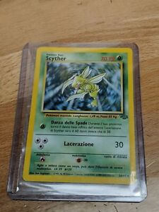 Scyther Non Holo 10/64 Jungle Italian Pokemon + BONUS CARD