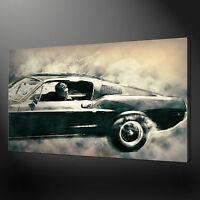 STEVE MCQUEEN BULLITT CANVAS PRINT PICTURE WALL ART VARIETY OF SIZES