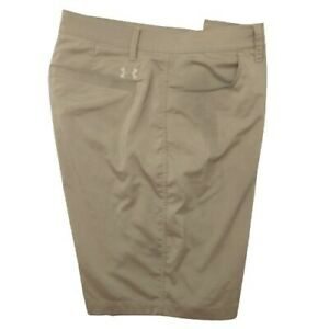 Under Armour Men's 38 Tan Tech Leaderboard Golf Shorts Match Play 1272355