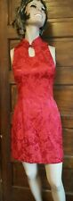 Roberta Womens sz 5 6 Red Dress Sleeveless Holiday Floral