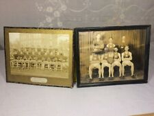 1933-1934 Manchester High School Football & Basketball Team Photo FRAMED