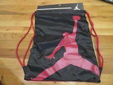 NWT Red & Black Nike Air Jordan Drawstring Gym Bag