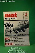 MOT 2/66 VW 1500 A Peugeot 204 Ford 12M 17M 20M