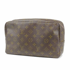 Authentic LOUIS VUITTON Monogram Trousse Toilette 28 Pouch M47522 Used F/S