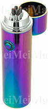 Electric Windproof Flameless Lighter USB Dual Arc Cigarette Plasma RechargeableR