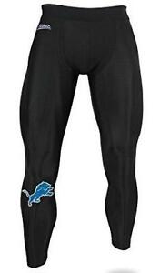 Zubaz Detroit Lions Men's Size Medium Solid Black Leggings Pants C1 1642