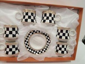 NEW 12pcs Espresso Coffee Set 6 cups /6 Saucer Black Checkers