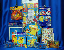 Pokemon Party Set # 16  Pikachu Cake Topper Plates Napkins Tablecloth Invites ++