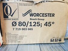 Worcester 7719003665 45-Degree Elbow White 80/125