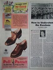 1947 Poll Parrot Shoes Pre Tested Style 9663 9124 Original Print Ad