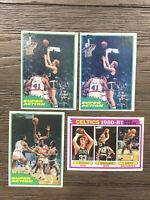 1981 - 1982 Topps Super Action Lot (2) Larry Bird Robert Parish + Bonus Celtics