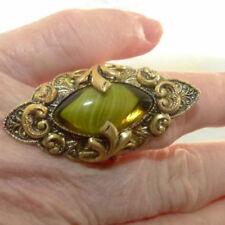 Tigers Eye Stone Brass Fashion Rings