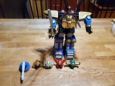 1995 Bandai Power Rangers Zeo Megazord with all helmets and accessories.