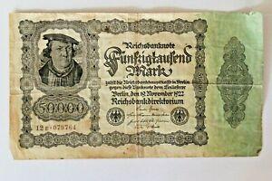 Reichsbanknote Fünfzigtausend Mark Berlin 19 November 1922 12E 079764