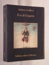 IL RE DI GIRGENTI Andrea Camilleri Sellerio La memoria 520 2008 Libro Romanzo di