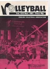 VOLLEYBALL MAGAZINE - November 1981