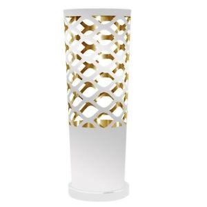 Dainolite 1 Light Cut Out Table Lamp in White and Gold - CUT-T-692