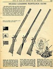 1965 Print Ad of Muzzle Loading Flintlock Gun Model 6494 Elephant 4957B & 6475W