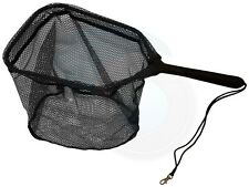 7in Plastic Handle Trout Fishing Net with Rubberized Netting 14x10inch