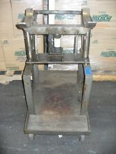 Heavy Duty Stainless Steel Cart With 2 Ton Dayton Model 3zc58 Hydraulic Lift