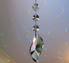 Sun Catcher Hanging Wave Crystal +3 Swarovski octagon Feng Shui Rainbow Prism