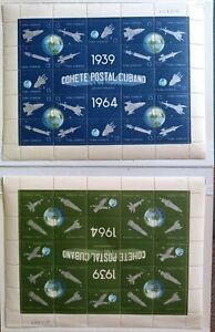 space stamps lot with scarce sheets mint and used