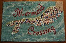Mermaid Crossing Hand Tufted Area Rug Throw Carpet Beach Home Decor Mat New