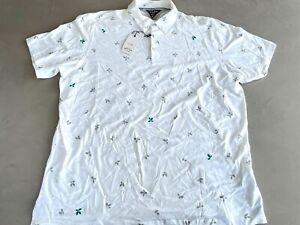 Adidas Adipure Golf Polo Shirt White 2XL