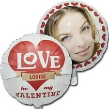 """18"""" Personalised Photo Valentines Day Love Hearts Party Printed Foil Balloon"""