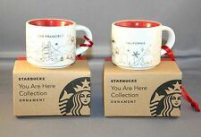 2014 starbucks christmas san francisco & california 2 oz. mug NWT ornaments