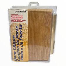 Vintage Heath Zenith Wired Door Chime 2 Note Wood Brass Oak  Doorbell USA NOS