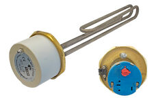"""1 3/4"""" Incoloy 3kW 14"""" Immersion Heater & Thermostat for Unvented Cylinders"""