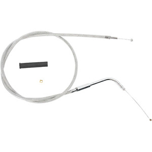 Drag Specialties - 5330500B - Braided Throttle Cable, 33 3/4in. Harley-Davidson