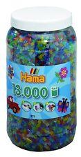Hama 21154 - Bügelperlen Topf, 13.000 Perlen, 5 Glitter Farben gemischt
