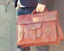 Men's Real Limited Vintage Leather Messenger Bag Shoulder Laptop Bag Briefcase