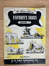 1939 The Modern Library Favorite Songs Book 1