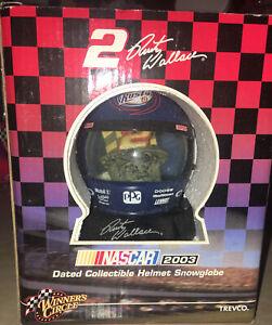 Rusty Wallace Mini Helmet DATED SNOW GLOBE 2003 TREVCO,NASCAR, NEW IN BOX RARE