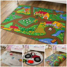 Kids Farm Mats | Colourful Rugs For Childrens Bedroom | Cheap Mats | Bedroom Mat