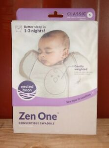 Nested Bean Zen One - Gently Weighted Swaddle | Small | Arms Free | sand - 3-6 m