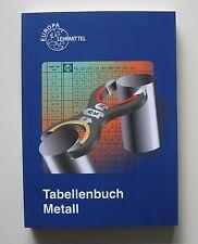 Tabellenbuch Metall Europa-Lehrmittel 42. Aufl. 2002