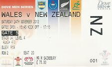 Wales v New Zealand 24 Nov 2012 Cardiff RUGBY TICKET