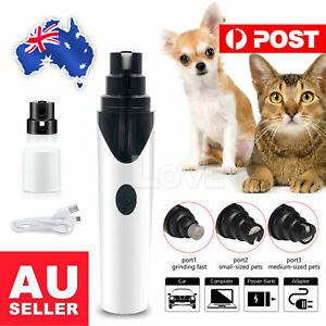 Electric Dog Cat Pet Nail Clippers Nail File Claw Grooming Nail Grinder Trimmer