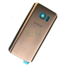 For Samsung Galaxy S7 Back Glass Rear Battery Cover - Pink Gold