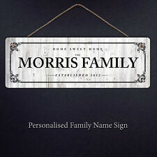 Personalised Family Name Plaque Sign Housewarming New Home Gift Metal Handmade